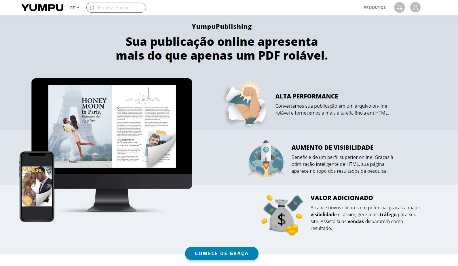 O site da YumpuPublishing